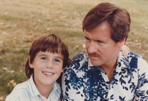 Age 9 with dad